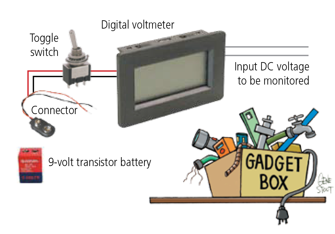Digital Battery Voltage Monitor Rv Gadget Box This Time Ill Go Frugal With A Simple Electronic That Most Every Rver Needs